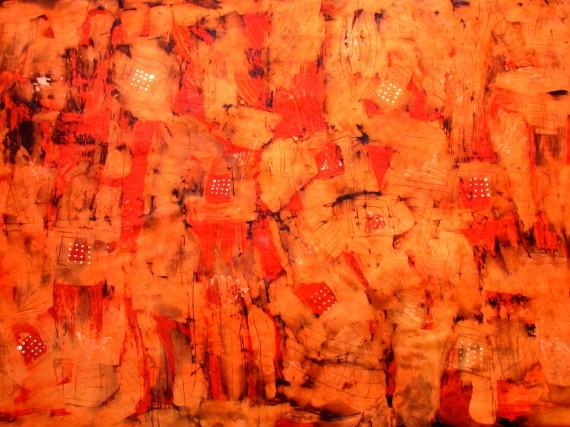 "Wandbild ""Feuer"" Größe 92x116 cm"